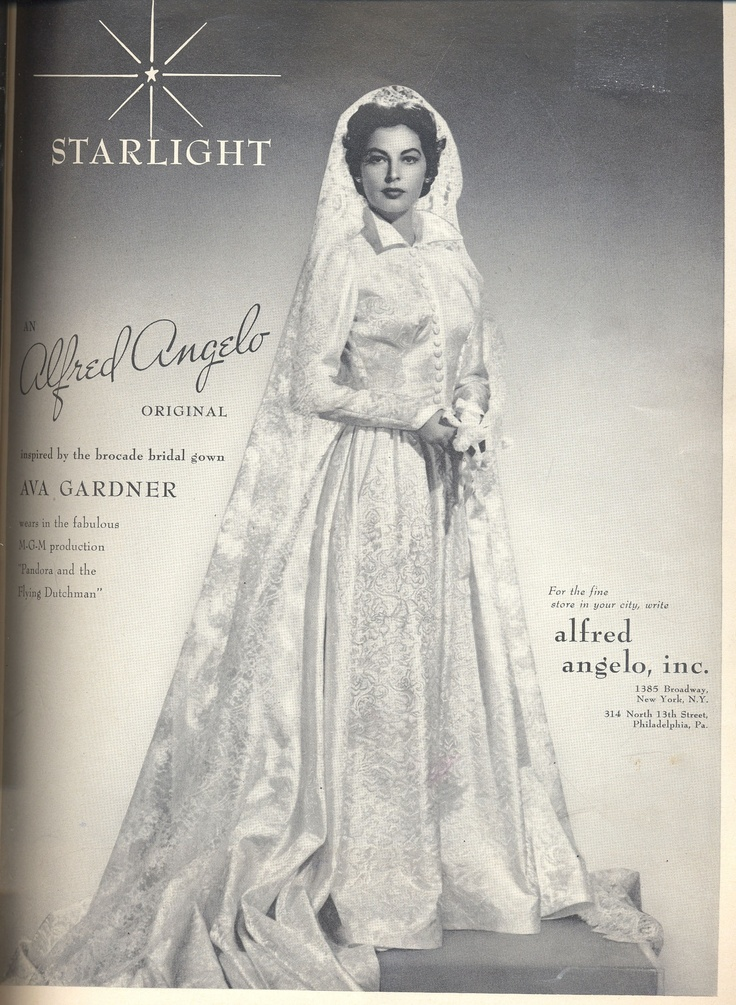 An Alfred Angelo Original Inspired By The Brocade Bridal Gown Ava Gardner Wears In Fabulous