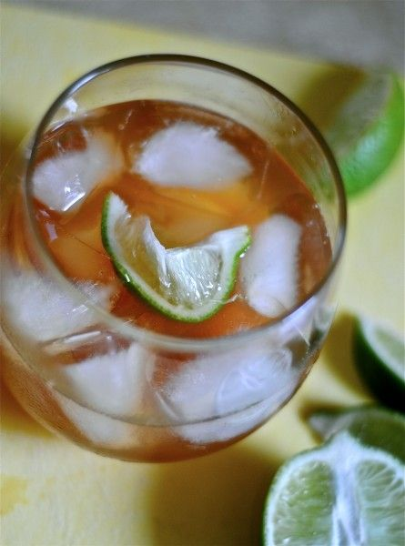 Iced Tea Margarita:Ingredients        2 cups sweet and sour mix      1 cup tequila      4 cups iced tea      Lots of ice      2 limes, cut into wedges    Instructions    In a pitcher, add the ingredients and stir until blended.    Place lots of ice in each glass. Pour drink into glass and garnish with a lime wedge.    Makes 6 margaritas.
