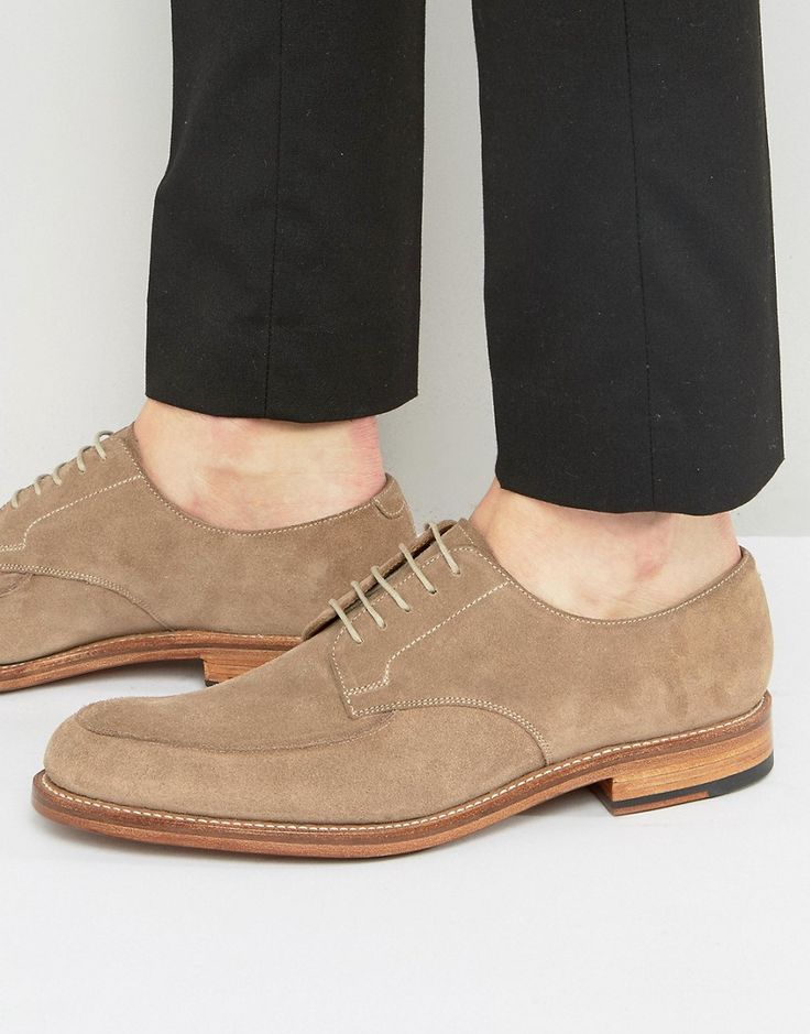 Get this Grenson's low sneakers now! Click for more details. Worldwide shipping. Grenson Dean Suede Derby Shoes - Beige: Shoes by Grenson, Suede upper, Lace-up fastening, Apron toe, Smooth leather sole, Treat with a leather protector, 100% Real Leather Upper. Grenson is one of England's legendary Northamptonshire shoe manufacturers and has a rich company history dating back to 1886. Manufactured very much the same way they were over 100 years ago, Grenson shoes are all Goodyear welted and…