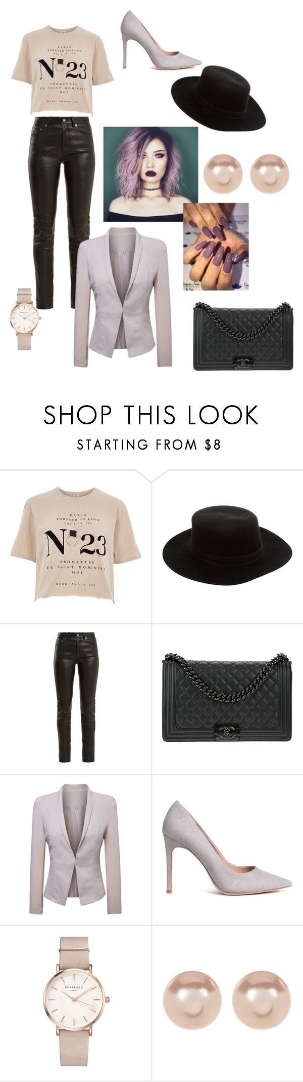 """""""Work Hard. Play Hard."""" by queen-elizac ❤ liked on Polyvore featuring River Island, Janessa Leone, Yves Saint Laurent, Chanel, WithChic, ROSEFIELD, Nordstrom Rack and MyFaveTshirt"""