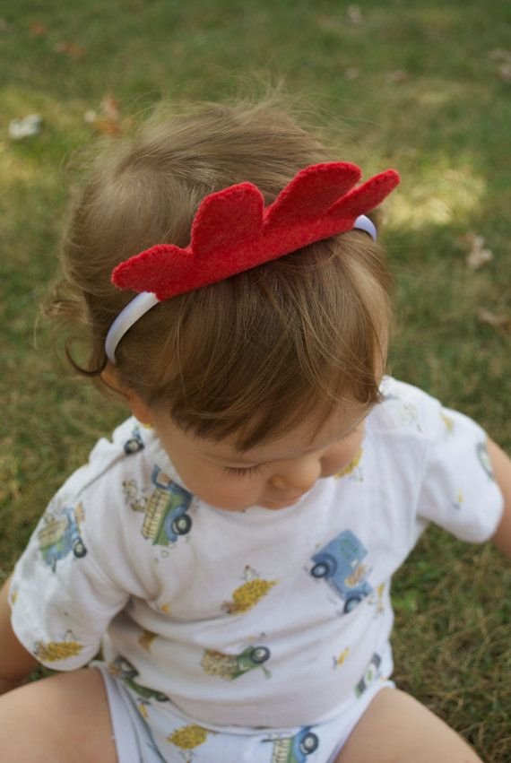 Wool Felt Chicken Headband by TheThreadHouse on Etsy