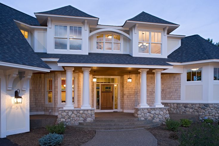 536 best country house plans lifestyle images on for Prairie style house plans luxury