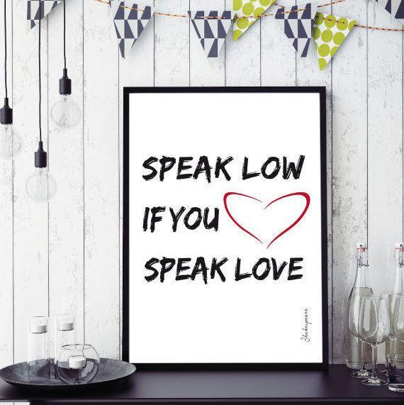 Shakespeare Parlare di amore stampa digitale di Printmyidea