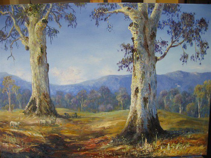 gum trees by Graeme Myrteza