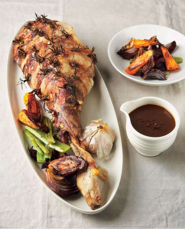 Roast lamb with lots of garlic by Adrian Richardson from Meat | Cooked