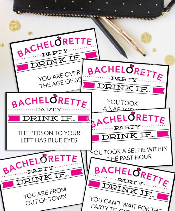 Bachelorette Party Ideas - Bachelorette Party Games - Bachelorette Drinking Game by CreativeUnionDesign