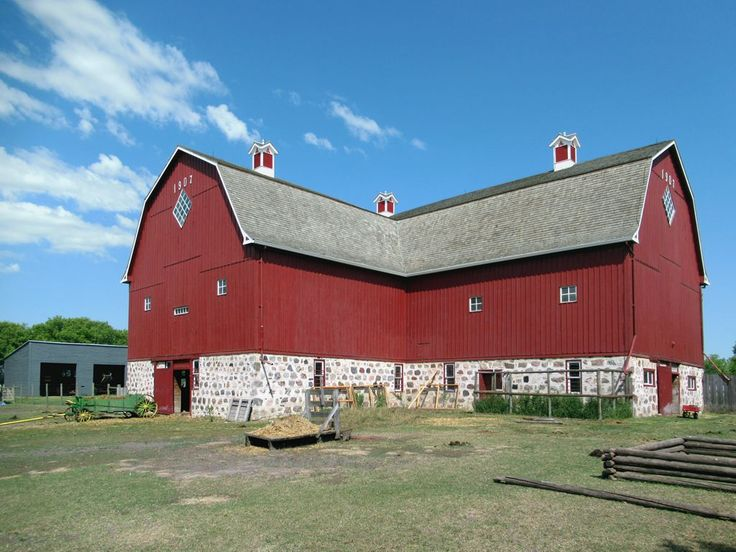 The Ontario-style barn (1907) at the Motherwell Homestead National Historic Site near Abernethy, Saskatchewan, commemorates agricultural development on the Canadian prairies prior to 1914.