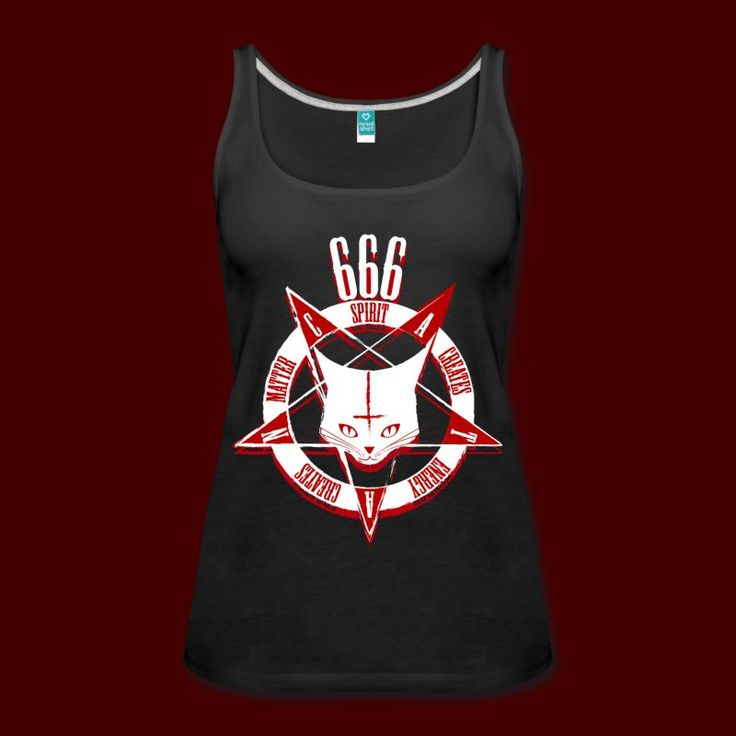 Satanic Cat - CATAN 666 - Women's Premium Tank Top