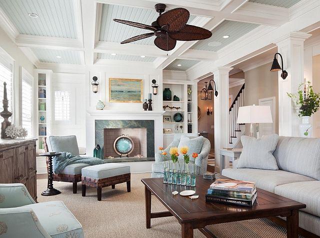 Lovely Surf Road House 11   Traditional   Living Room   New York   Richard  Bubnowski Design LLC Ceiling