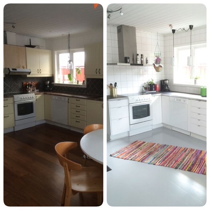 Before and after in my kitchen