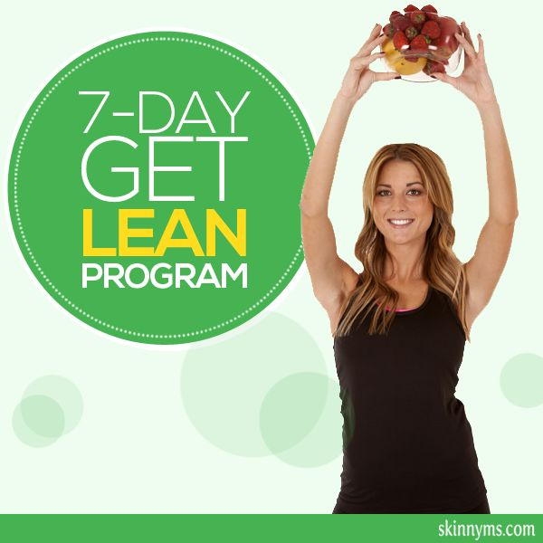 Here's our free 7-Day Get Lean Program to jumpstart a healthy lifestyle, with workouts and menus for 1 week. #weightloss #fatloss