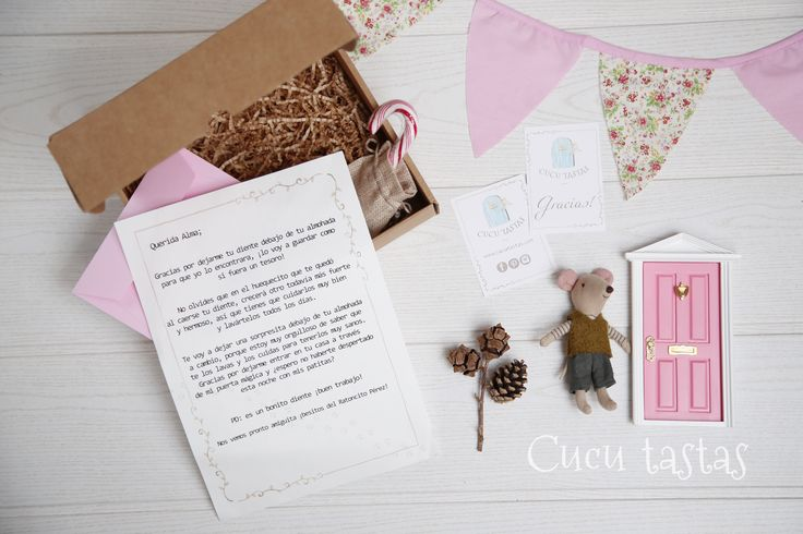 Caja de regalo personalizado del ratoncito Pérez