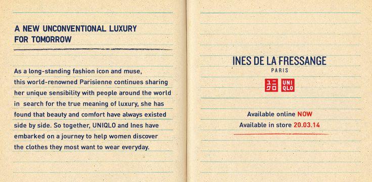 Ines De La Fressange | A collaboration with the world-renowned Parisienne - UNIQLO UK