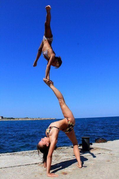 Really?! I mean, wow!: At The Beaches, Fit, Cheerleading, Summer Beaches, Buckets Lists, Partners Yoga, Beaches Activities, Cheer Stunts, Pole Dance