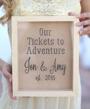 Another great find on #zulily! 'Our Tickets' Personalized Shadow Box #zulilyfinds