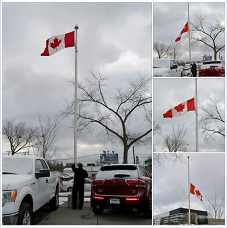 @Waterloo Ford will fly our #Canadian flag at half mast today in honour of #JimFlaherty #cdnpoli
