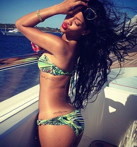 Rihanna tattoos.
