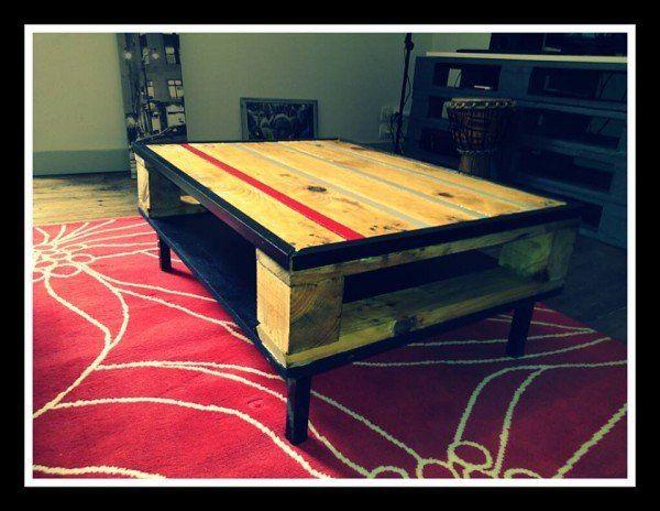 Table basse en palette pallet coffee table pallets - Construire table basse palette ...