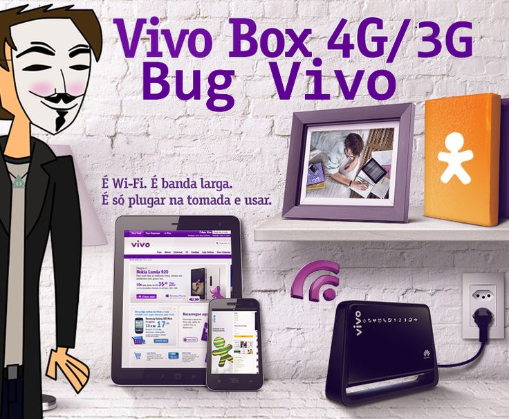 Bug VIVO Internet, tenha internet ilimitada no 3G e no 4G. Funciona somente nos planos pós Internet Móvel 4G e Vivo Box 4G.Bug VIVO Internet 2016.