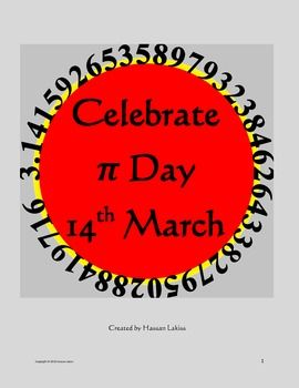 Pi Day 14th March Celebration, Posters, Activities , Useful Lin