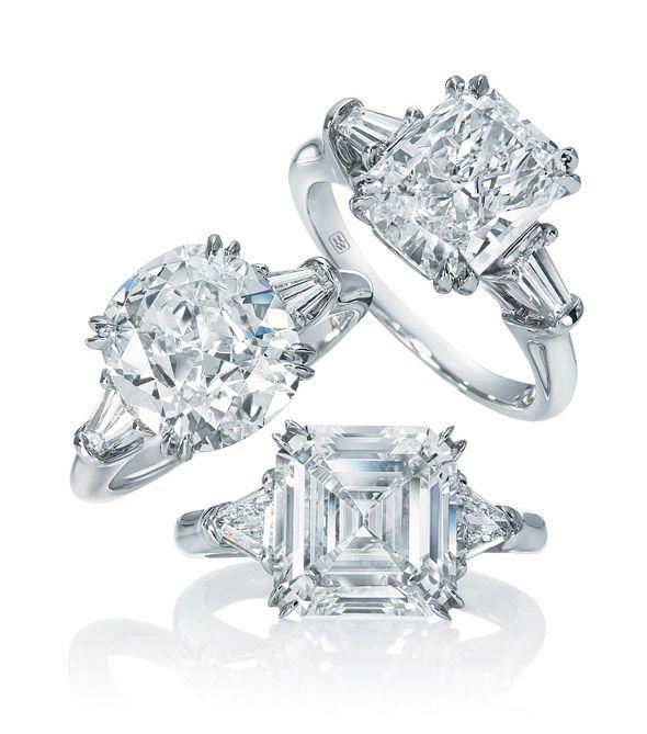 Harry Winston Wedding Band 27 Fresh Cushion cut engagement rings