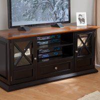Belham Living Hampton 55 inch TV Stand - Black/Oak