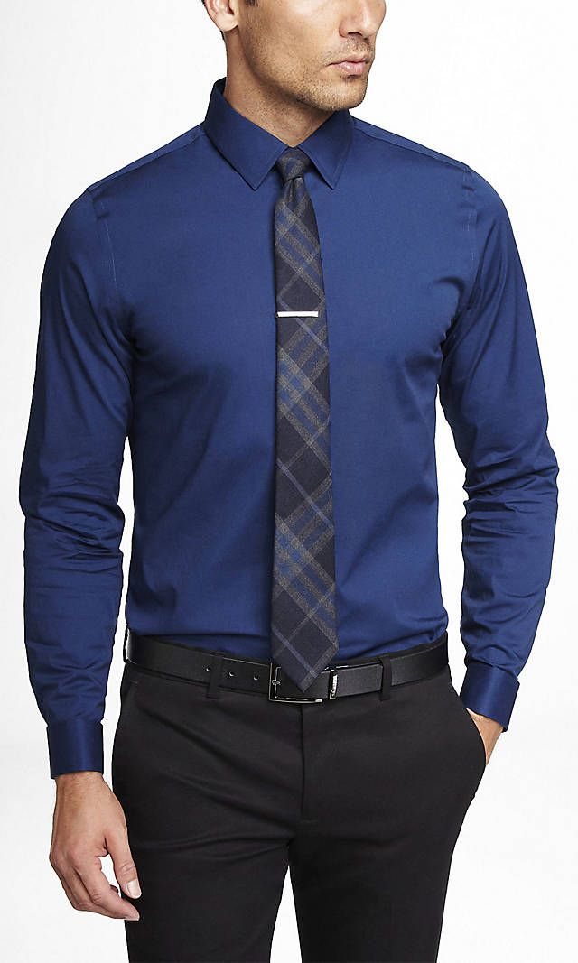 FITTED 1MX FRENCH CUFF SHIRT | Express