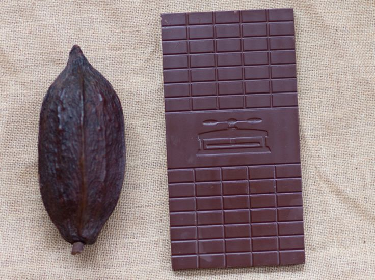 Pod and chocolate (Supplied: Kate Logan)