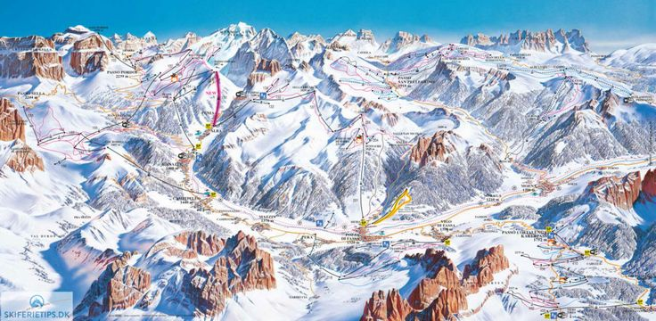 Canazei Piste Map (High resolution / .JPEG) #skiing #canazei #italy