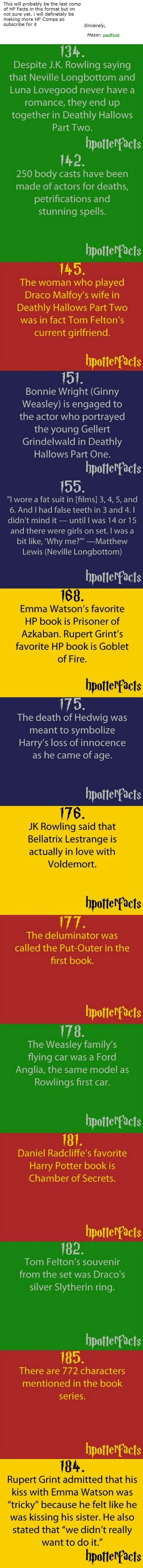 Harry potter facts. I find it interesting that Daniel, Emma, and Rupert's favorite HP books are earlier in the series.: