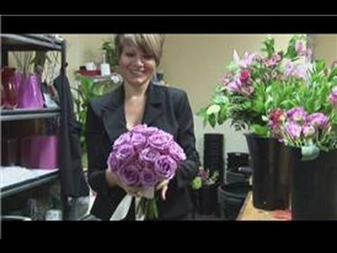 Bridal Bouquet Ideas : How to Make a Single Rose Bouquet - YouTube