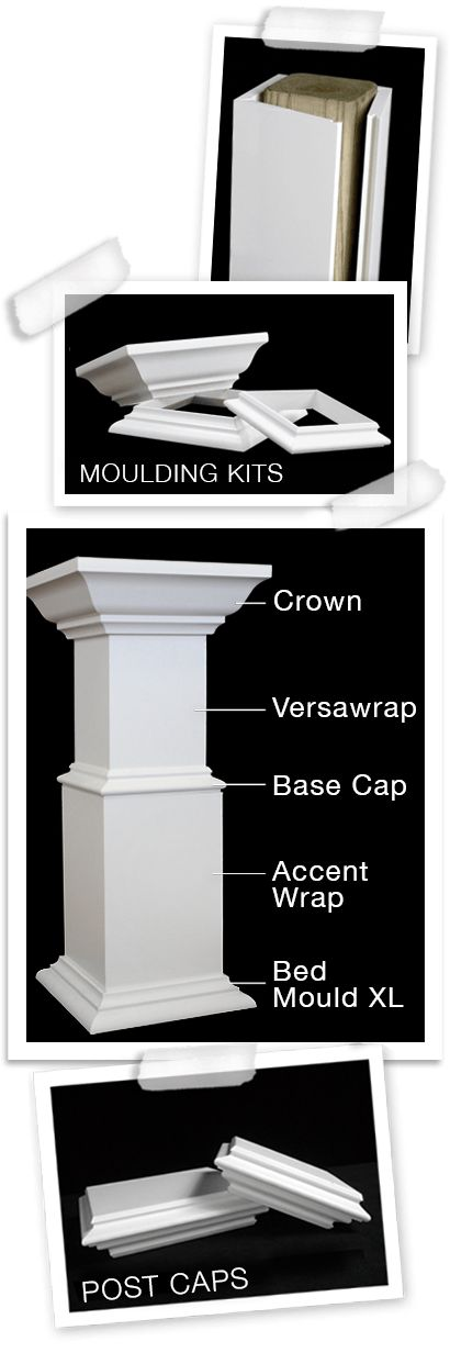 one-piece column wrap.  Refer to this, if we ever get as far as columns on the front porch.