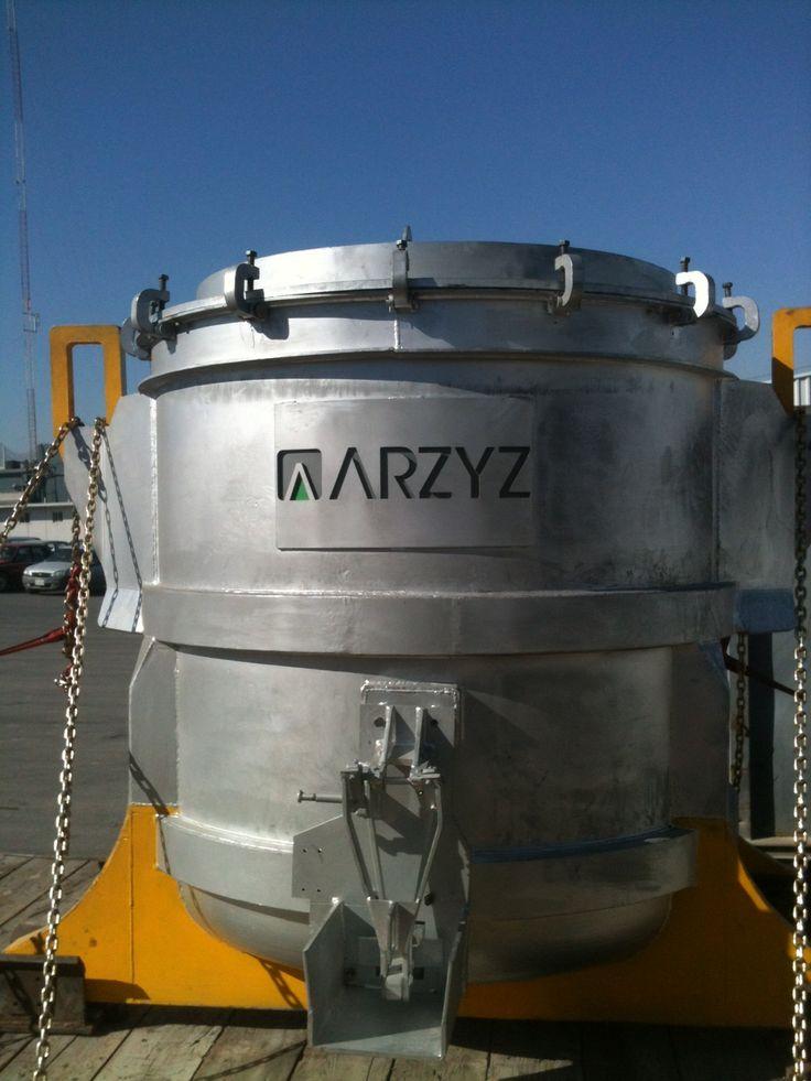 Termo para transportar aluminio líquido en ARZYZ.