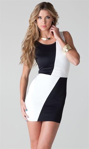 Купить черно белое платье
