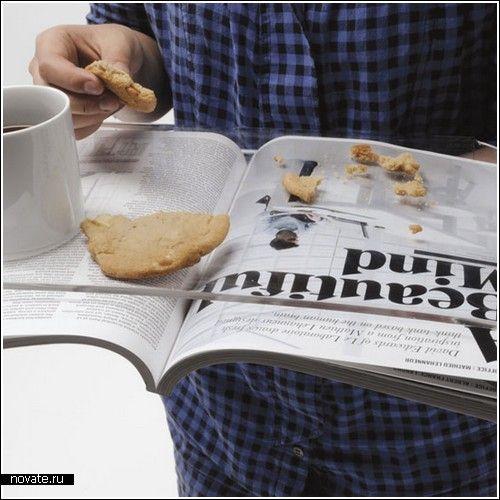 Поднос для еды и…чтения  Так уж получилось, что темы обзора сегодняшних проектов так или иначе связаны с едой. Как говорится, не обессудьте, не мы такие, жизнь такая :) На самом деле, проект хоть и нельзя назвать оригинальным, полезным он точно является!    подносы, еда, чтение, журналы, газеты
