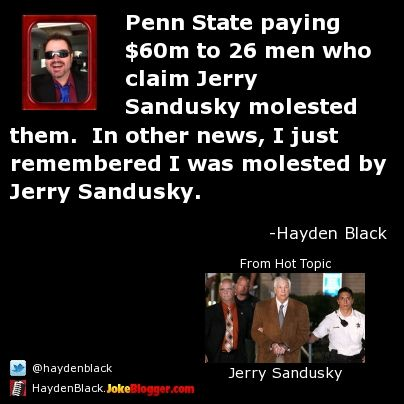sandusky men Jerry sandusky case: three ex-penn state officials get jail  the three men were accused of hushing up a 2001 allegation about sandusky sexually abusing a boy.