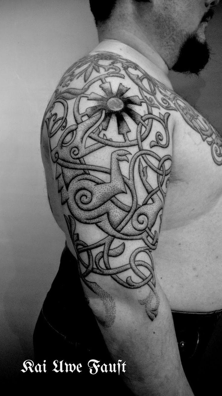 Nordic Tattoo: Black sun tattoo