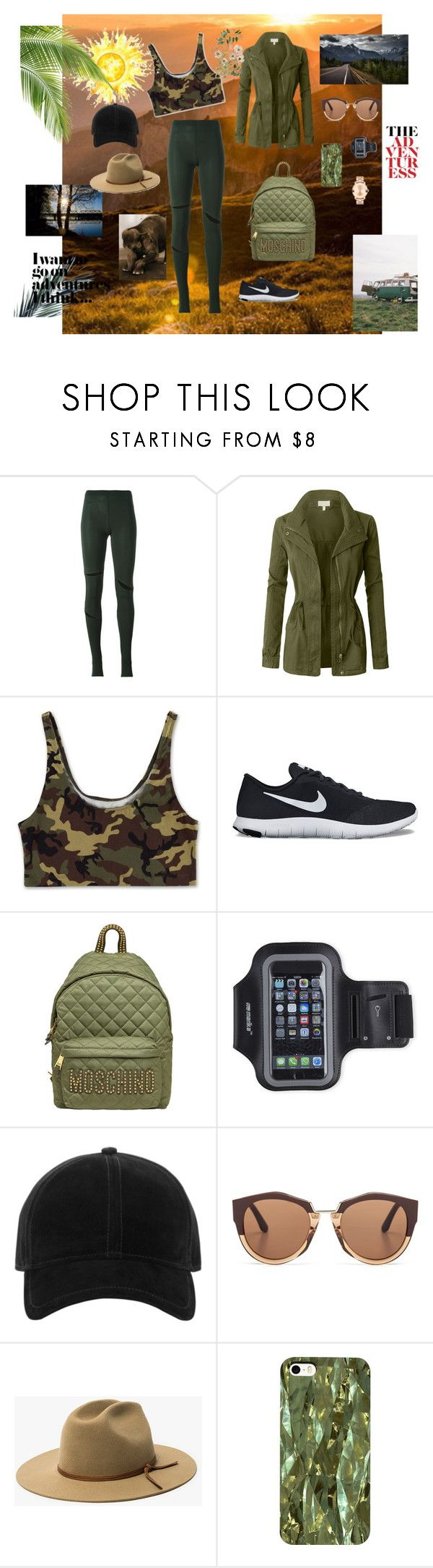 """adventure day"" by pixiepinkk ❤ liked on Polyvore featuring MM6 Maison Margiela, LE3NO, NIKE, Moschino, Marika, rag & bone, Marni, Movado and Vanity Fair"