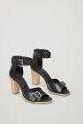 COS image 2 of High-heel buckle sandal in Black