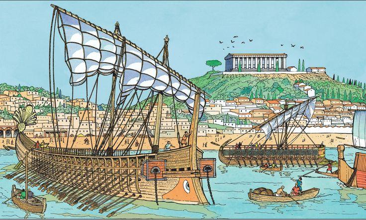 View of Roman Massalia (Marseille) by Gilbert Bouchard