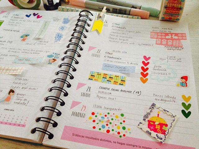 Ideas para decorar la agenda diy especial vuelta al cole especiales - Como decorar una agenda ...
