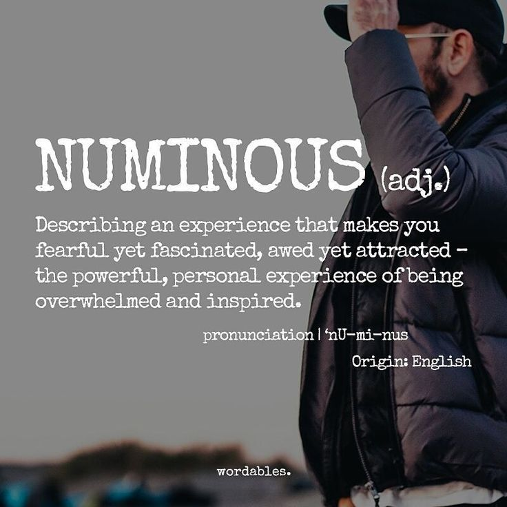 "Wordables on Instagram: ""Numinous ( adj. ) @w.0.r.d"""