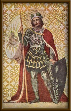 Wenceslaus I, Duke of Bohemia (sv.Václav, c.907) - the duke of Bohemia (921-935), saint and martyr, posthumously declared king, and the patron saint of the Czech state. #Czechia