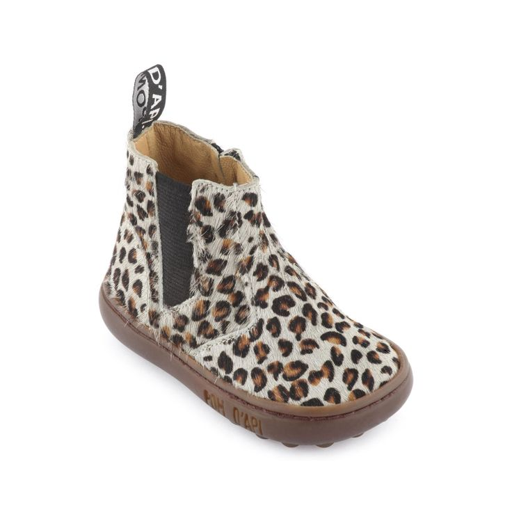 Light grey leopard-printed leopard upper. Leather insoles and lining. Strengthening patches at the back of the shoe. Elasticated straps and zip fastening on the side. Non-slip elastomere outsoles. - 95,00 €