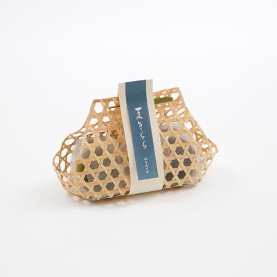 水ようかん 5個 竹籠入 | Mizu yokan packaging with bamboo basket | design | japan