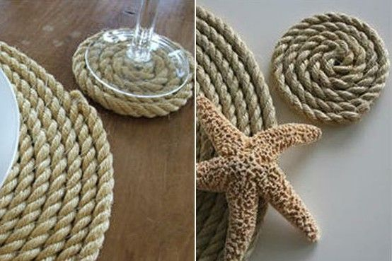 DIY rope coasters/placemats