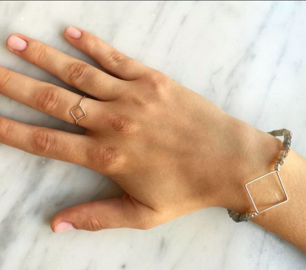 Ring and bracelet from our quasar collection