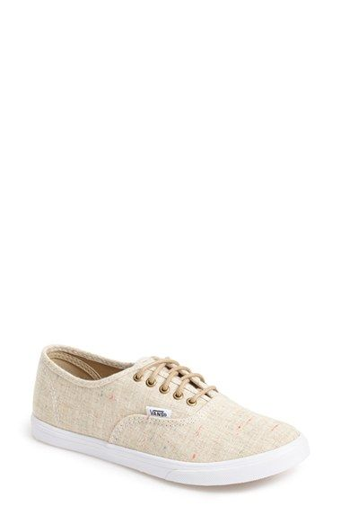 Free shipping and returns on Vans 'Lo Pro' Sneaker (Women) at Nordstrom.com. Colorful nepped yarn pops against the summery linen-canvas upper of a low-cut sneaker featuring a slimmer toe box for a more feminine look.
