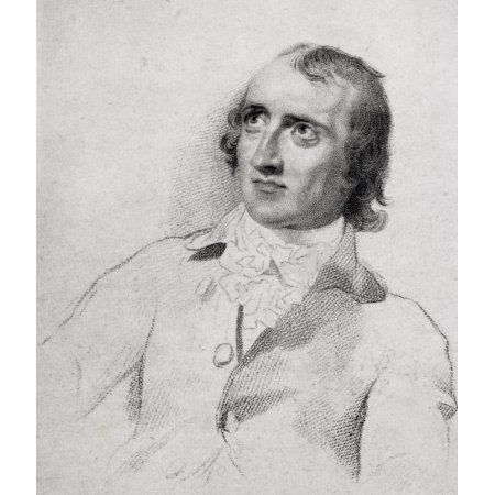 William Godwin Aged 48 1756-1836 English Political Writer And Novelist From The Drawing By Lawrence From The Book The Life Of Charles Lamb Volume I By E V Lucas Published 1905 Canvas Art - Ken Welsh