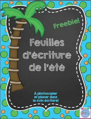 Freebie: 8 différentes modèles de feuilles d'écriture avec trottoir pour l'écriture de l'été